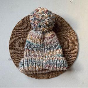 MADEWELL Rainbow Thread Knit Pom Pom Beanie